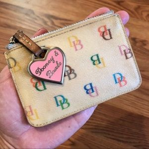 Dooney and Bourke Cream Canvas Coin Purse